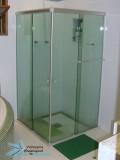 box de canto vidro verde