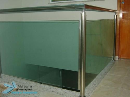 guarda corpo inox vidro verde